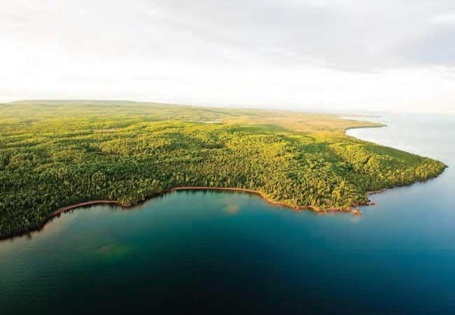 Keweenaw peninsula aerial view